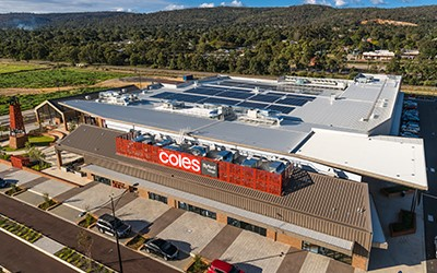 Supermarket of the future - sun powers Coles at Byford